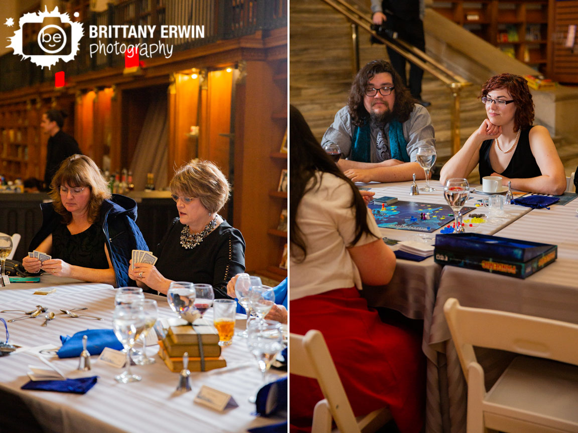 Indianapolis-central-library-wedding-reception-photographer-guests-play-board-card-games-pandemic-spoons.jpg