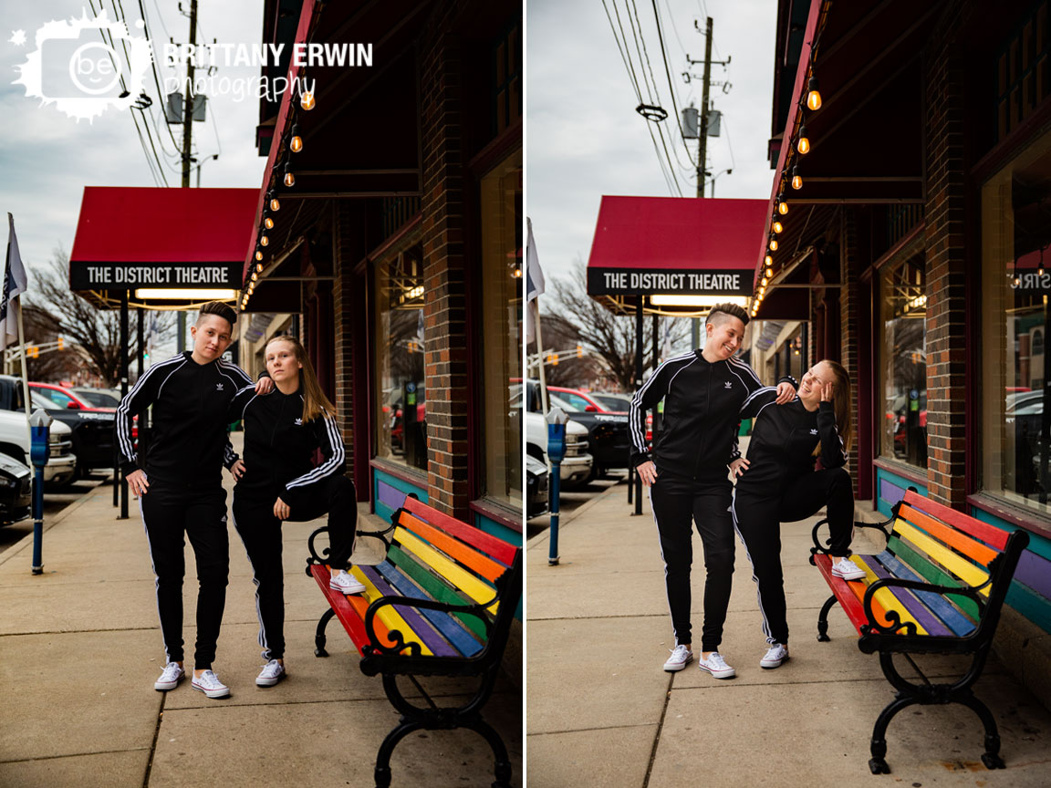 Indianapolis-mass-ave-engagement-photographer-couple-matching-track-suits-laughing.jpg