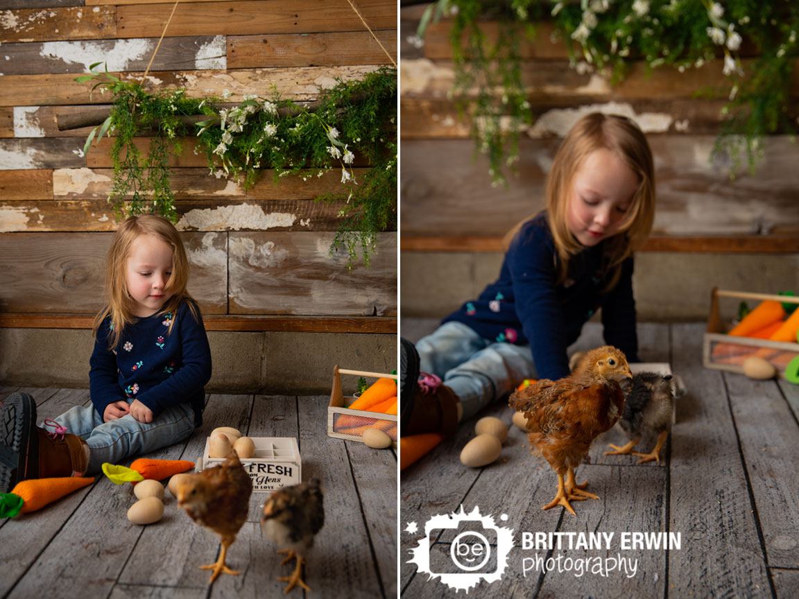 Indianapolis-portrait-photographer-spring-flowers-log-toddler-with-baby-chicks.jpg