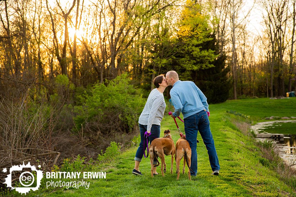 Indianapolis-family-portrait-photographer-sunset-photo-pet-greyhound-pair-couple-kiss.jpg