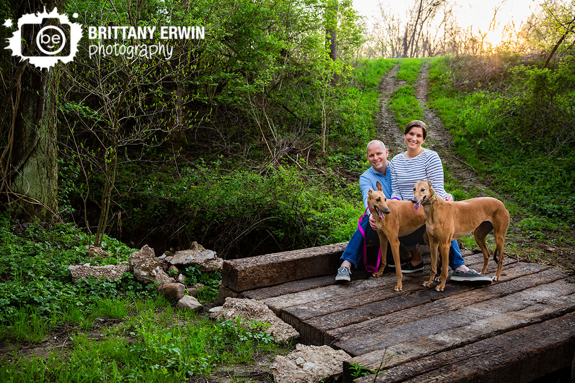 Indianapolis-spring-family-portrait-photographer-greyhound-rescue-dogs-on-bridge.jpg