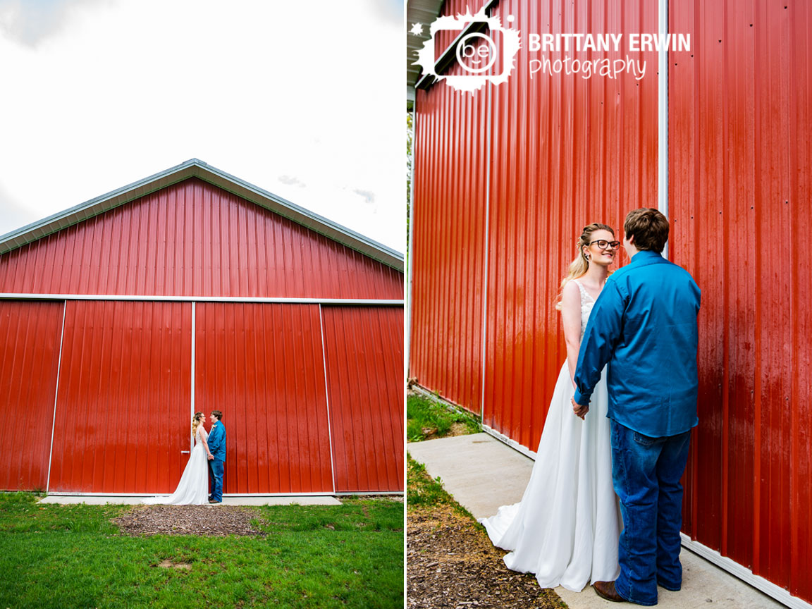 Rustic-Gatherings-wedding-barn-venue-bride-groom-first-look-outside-behind-ceremony-venue.jpg
