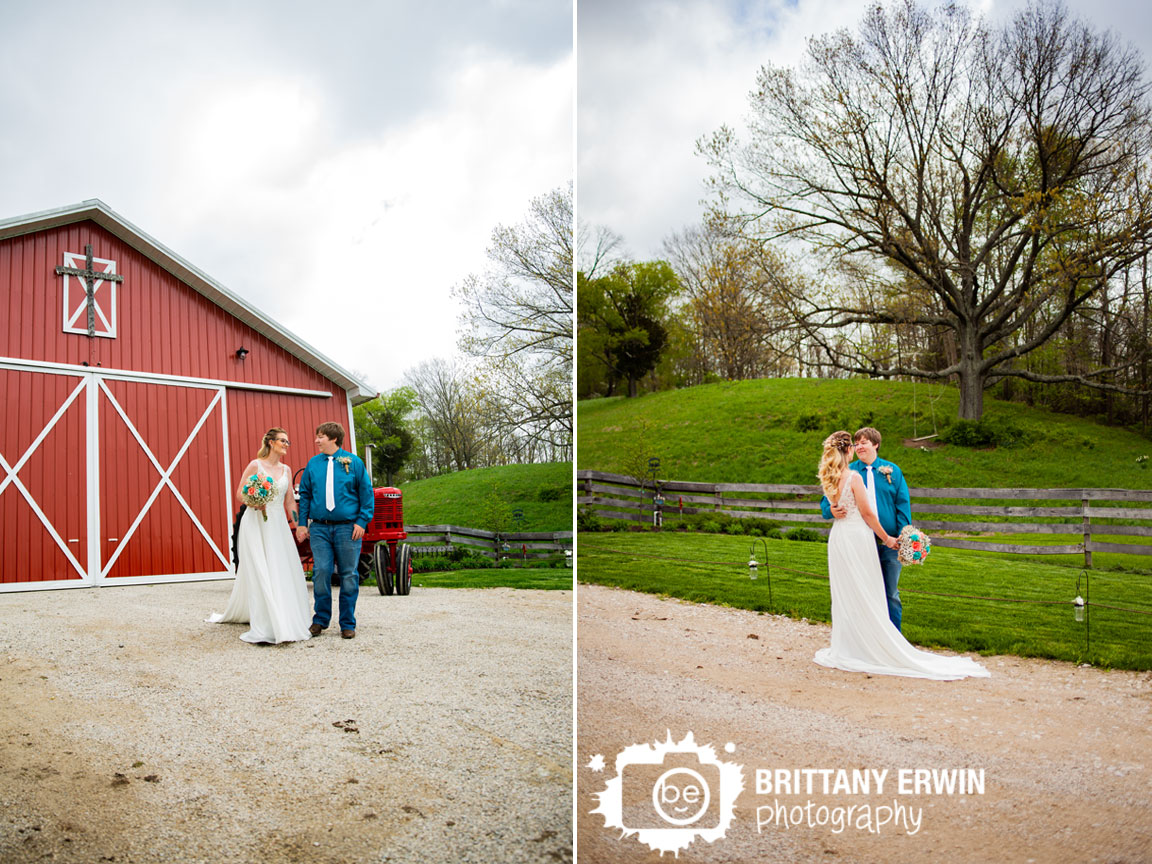 Barn-wedding-photographer-cross-over-red-doors-couple-walking-spring-trail.jpg