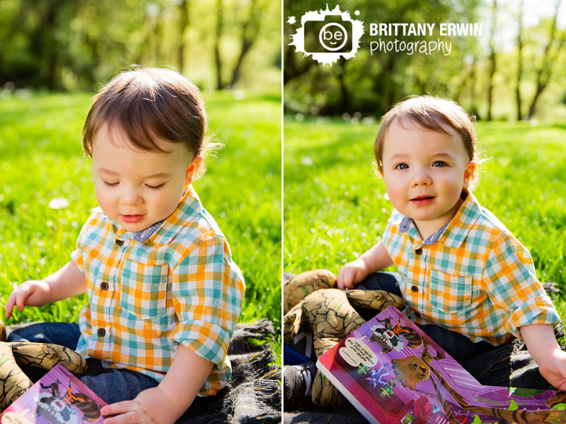 Spring-indianapolis-portrait-photographer-boy-outside-on-blanket-reading-favorite-book-goodnight-groot.jpg