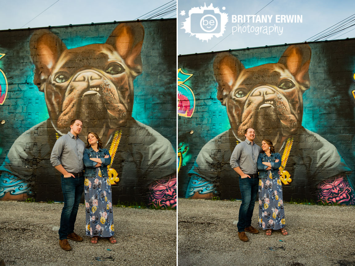 Indiana-engagement-portrait-photographer-grafitti-dog-art-fun-couple-laughing.jpg