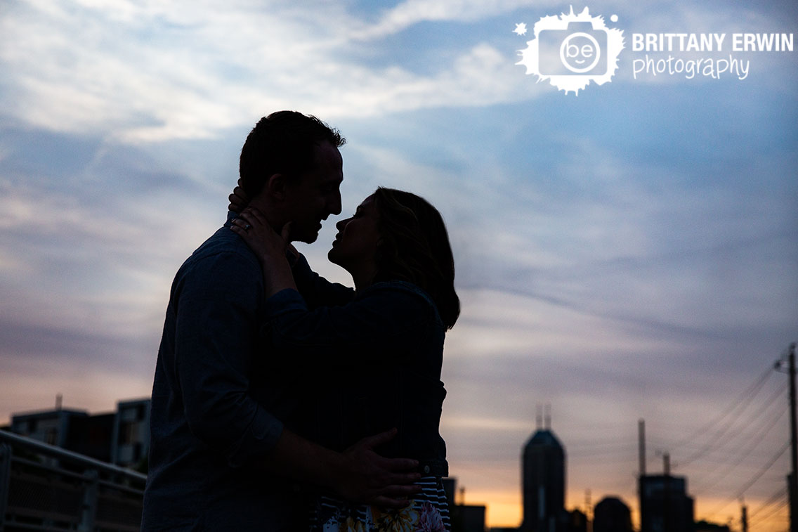 Indianapolis-sunset-silhouette-portrait-downtown-Indy-couple-engagement-photographer.jpg