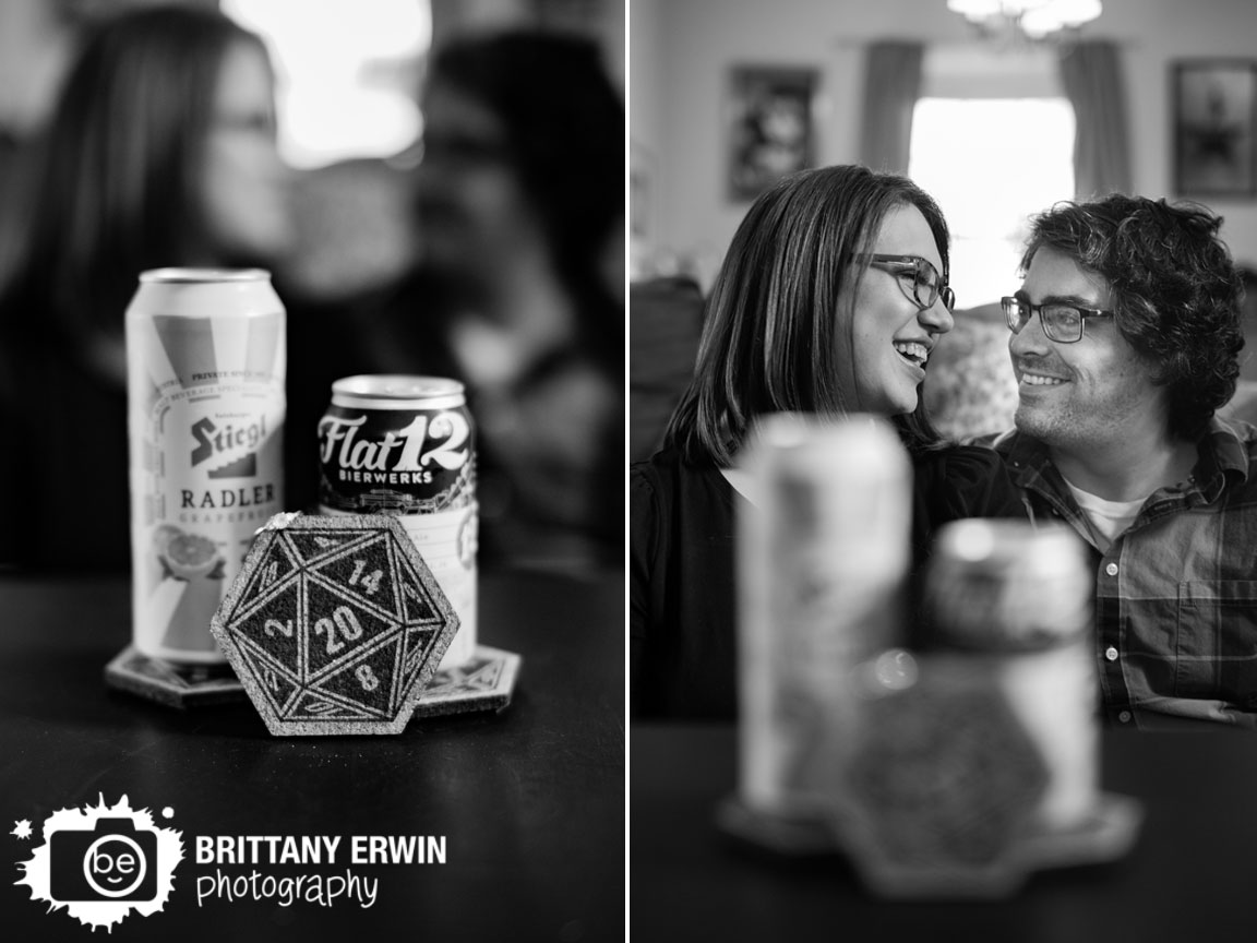 nerdy-indianapolis-engagement-portrait-photographer-couple-kiss-beer-d20-coaster-ring-detail.jpg
