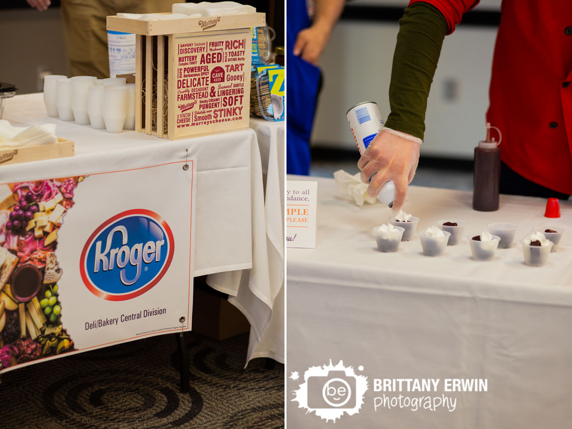 Kroger-table-at-Culinary-Collage-whipped-cream-over-brownies.jpg
