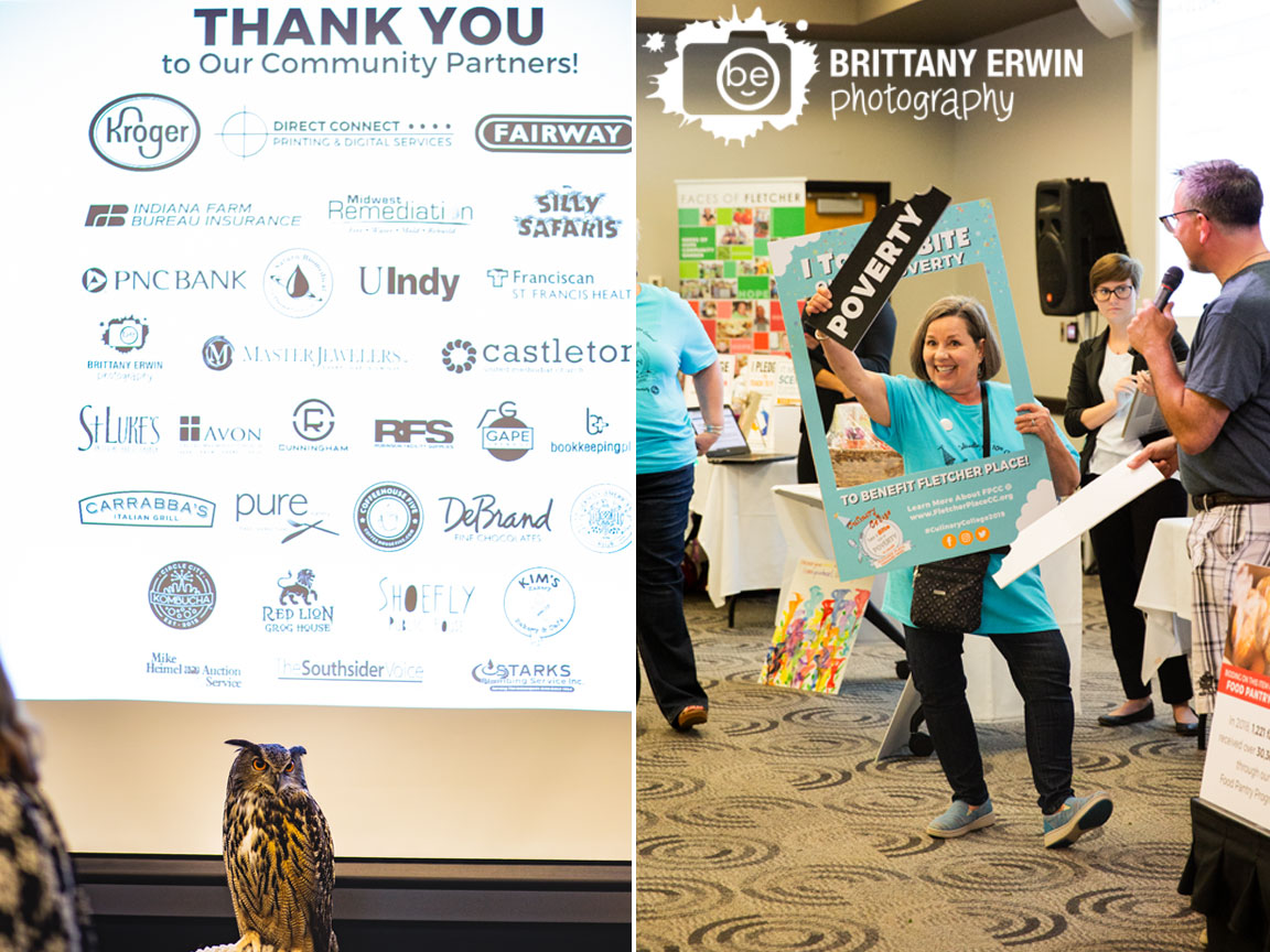 Indianapolis-event-photographer-take-a-bite-out-of-poverty-silly-safari-owl-thank-you-sign-sponsors.jpg