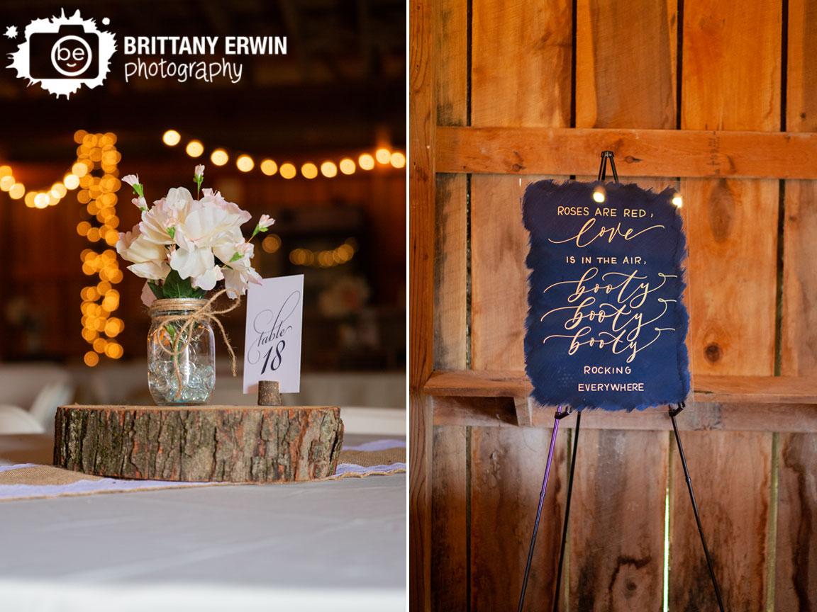 table-number-flower-mason-jar-centerpiece-wood-slice-dance-sign.jpg