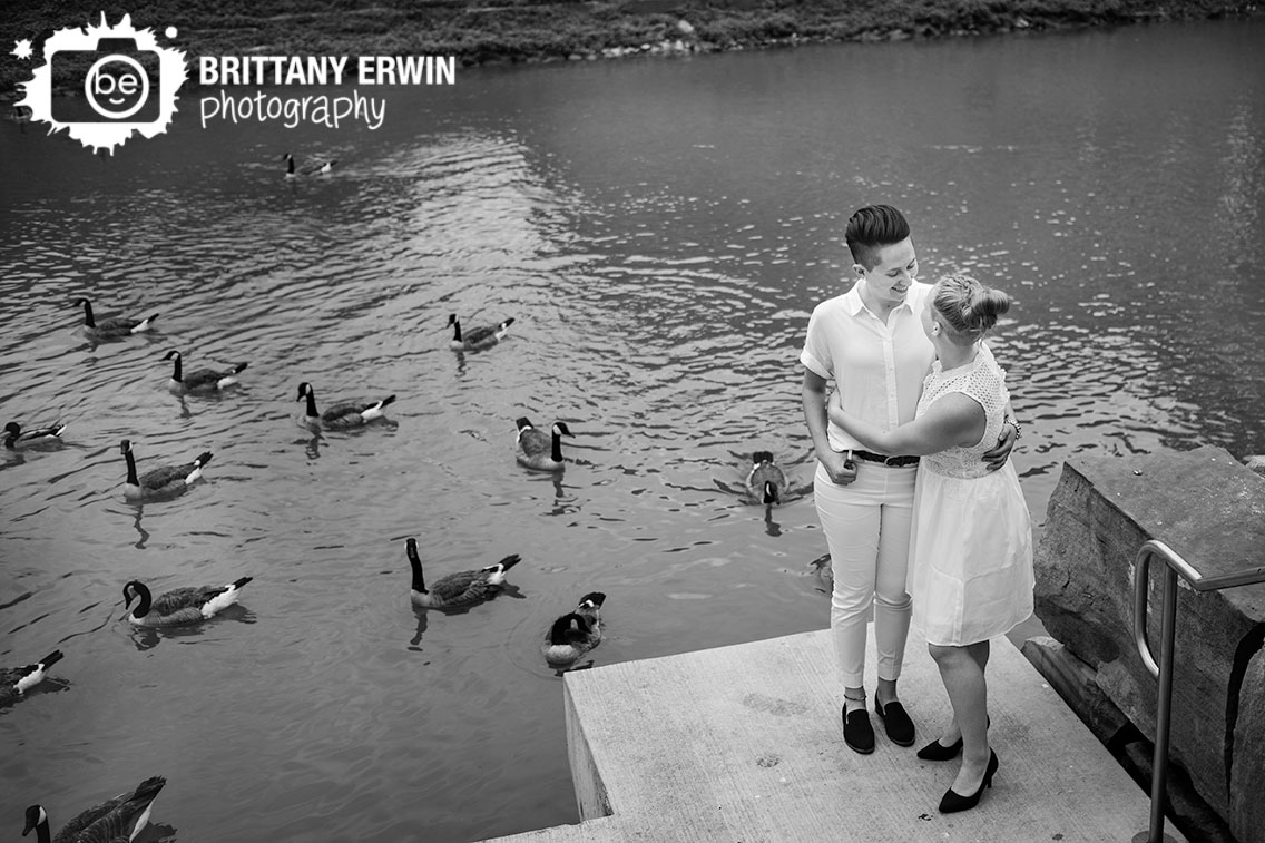 Indianapolis-bridal-portrait-photographer-couple-on-canal-water-full-of-geese.jpg