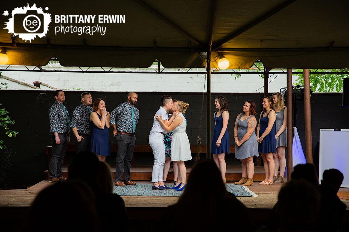 Wedding-ceremony-Indy-Hostel-couple-first-kiss.jpg