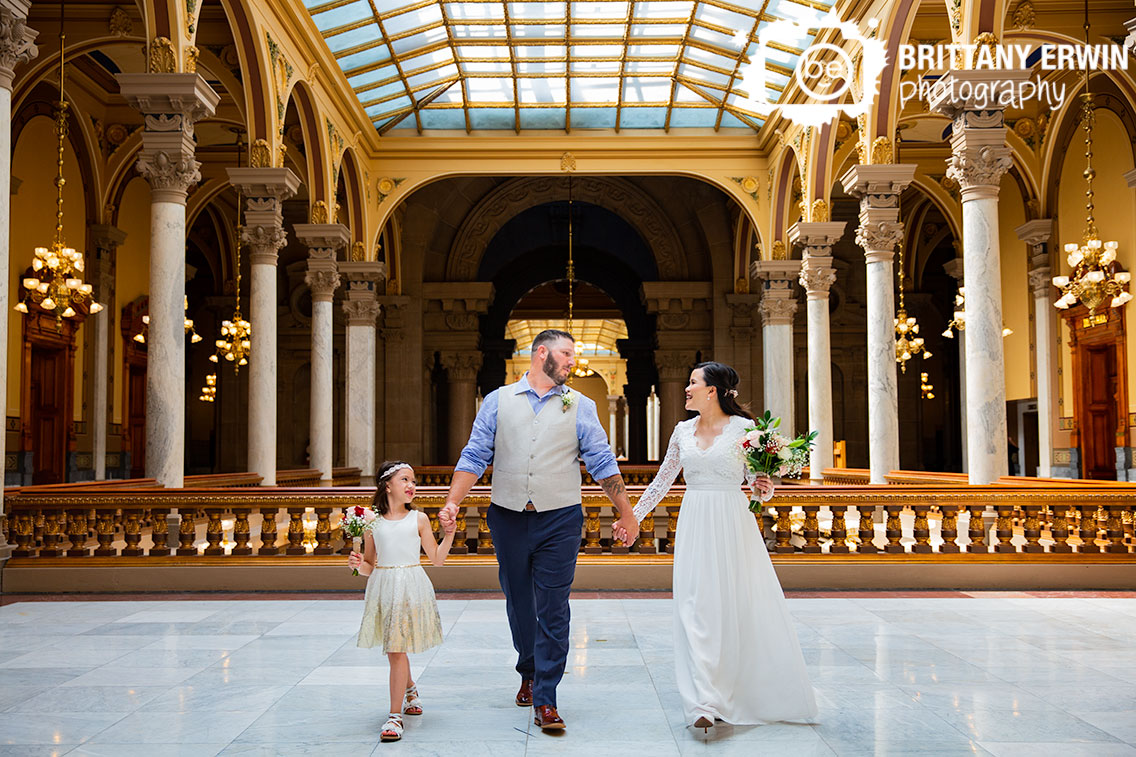 Indianapolis-bridal-portrait-family-walking-top-floor-state-house.jpg