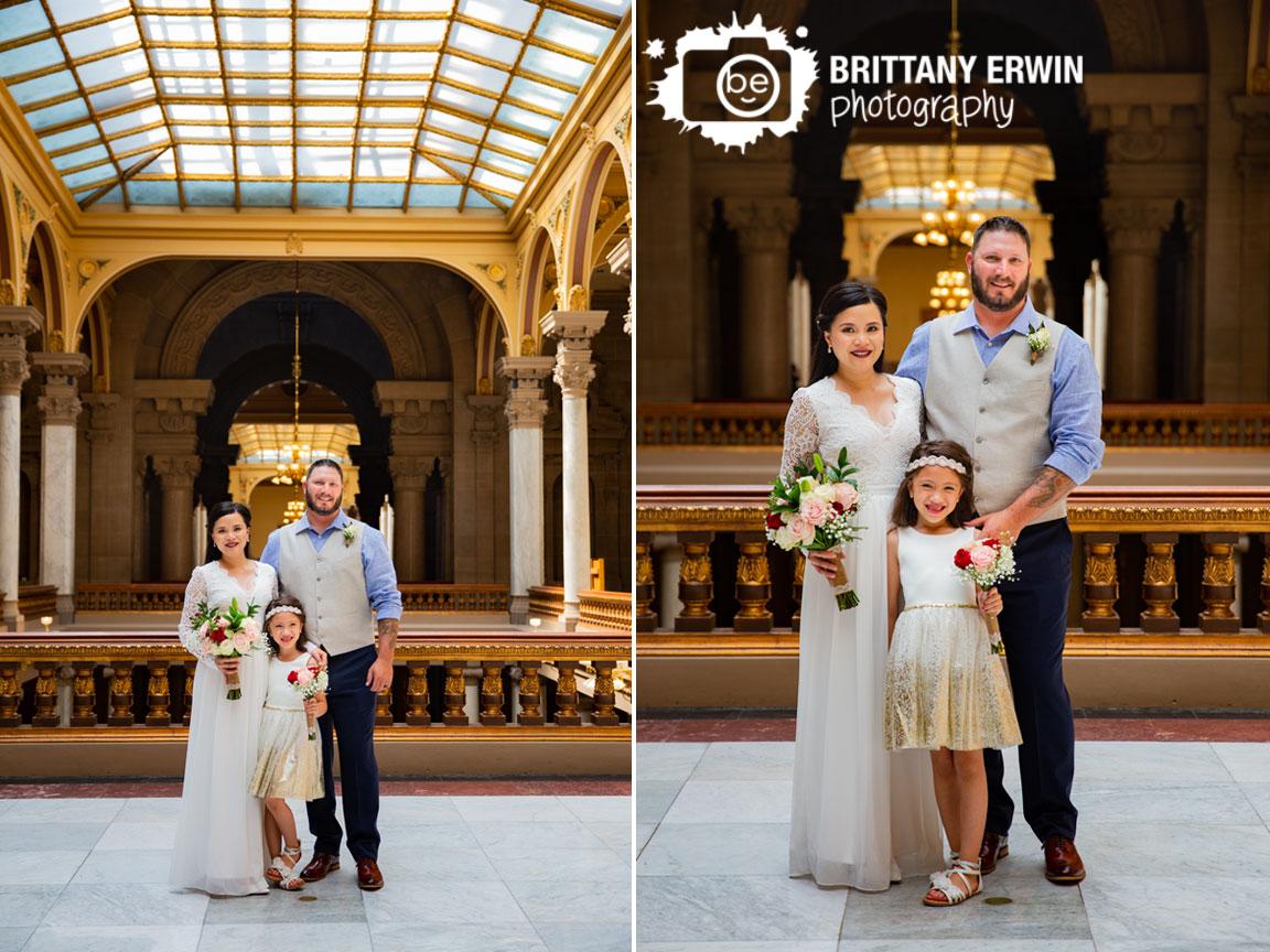 family-portrait-bride-groom-daughter-flower-girl-Indiana-State-House-elopement.jpg