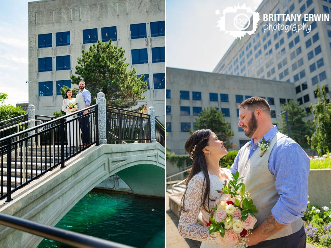 Indianapolis-canal-couple-portrait-newlyweds-on-bridge-elopement-photographer.jpg