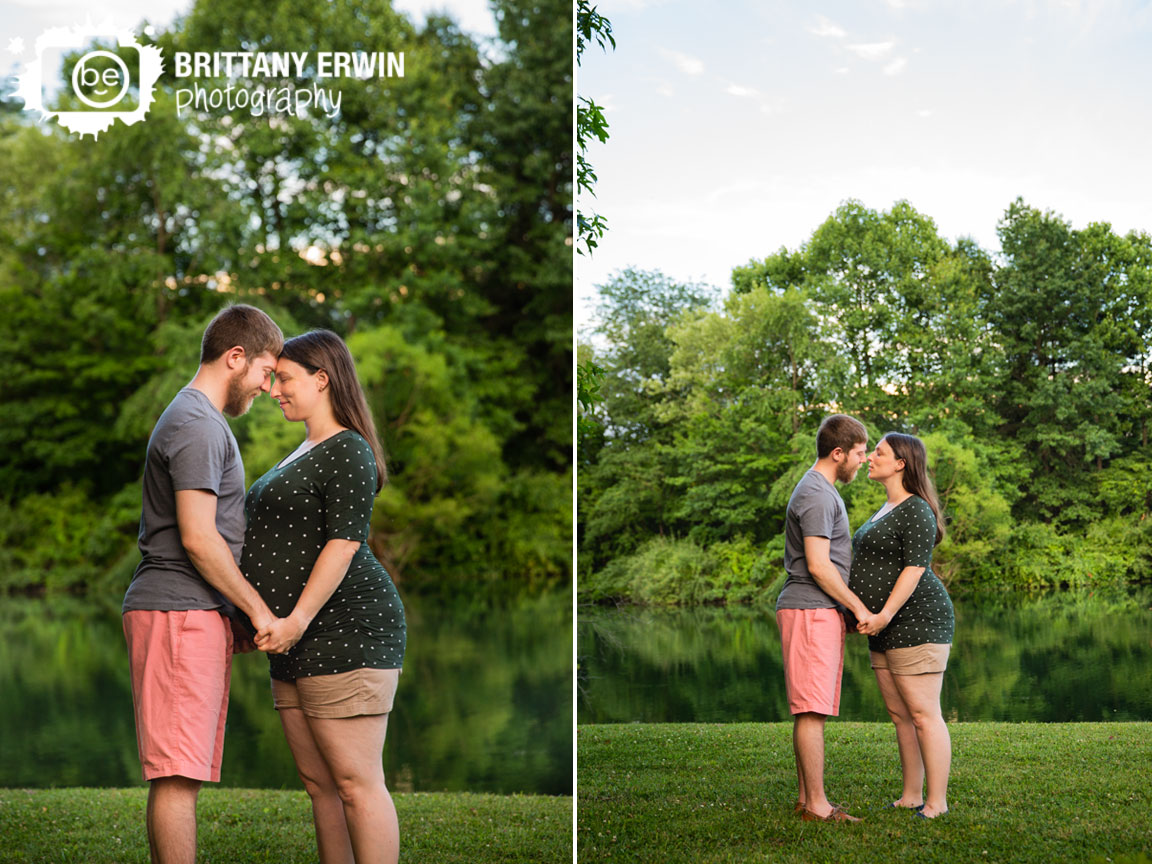 Indianapolis-maternity-portrait-photographer-couple-by-pond-at-sunset.jpg