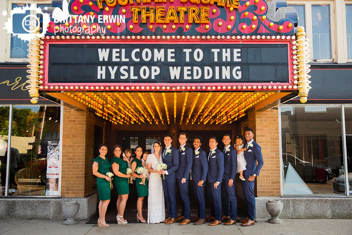 Fountain-Square-Theater-welcome-to-wedding-sign-vintage-lights.jpg