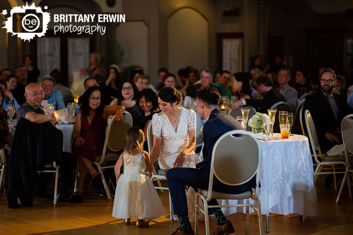 Fountain-Square-Theater-wedding-reception-photographer-flower-girl-at-sweetheart-table-during-toasts.jpg
