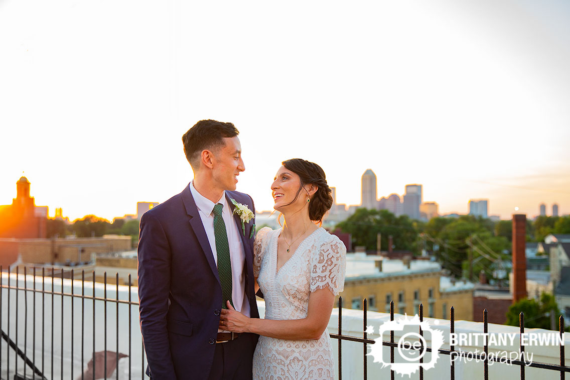 Fountain-Square-Theater-rooftop-wedding-photographer-sunset-couple.jpg