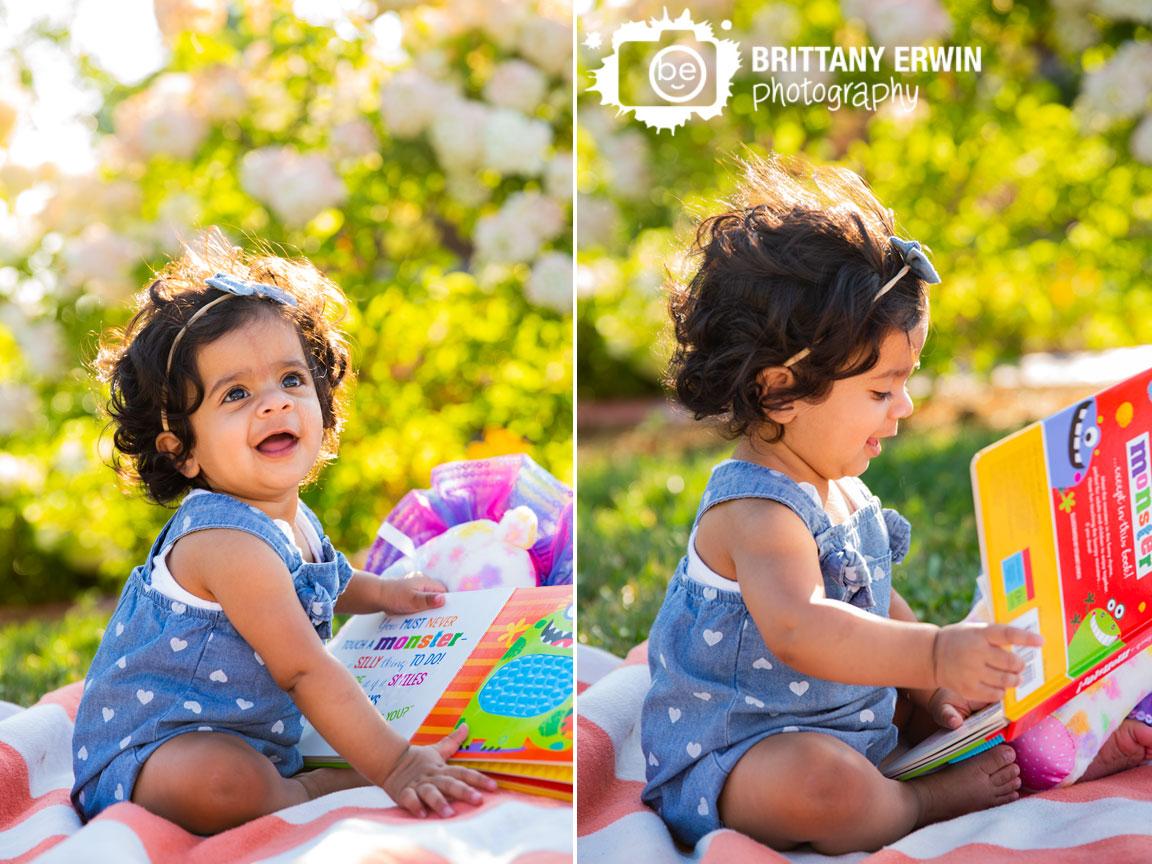 Coxhall-Gardens-milestone-portrait-photographer-favorite-book-baby-girl-monster.jpg
