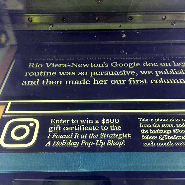 """MFA Design  faculty Willy Wong is a self-professed """"expert in making pop-ups"""" after spending many hours using the laser cutter and UV printer to create stylish signage for an upcoming event."""