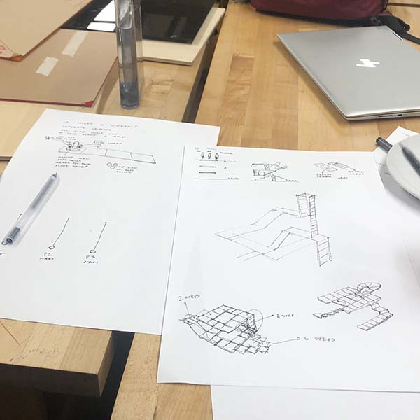 They're creating a tangible insight to visually represent their synthesis of research they've conducted throughout the semester.  In the current stage of development, they plan on building an artifact out of acrylic and laser cutting.