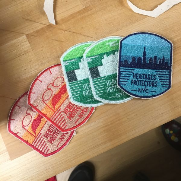 She will be honoring them with these beautifully designed patches. There are four different versions: Roosevelt's Birthplace, Hamilton Grange, the Tenement Museum, and Ulysses S. Grant's home. The intent is to recognize the work of these experts who preserve the knowledge about these less popular landmarks.
