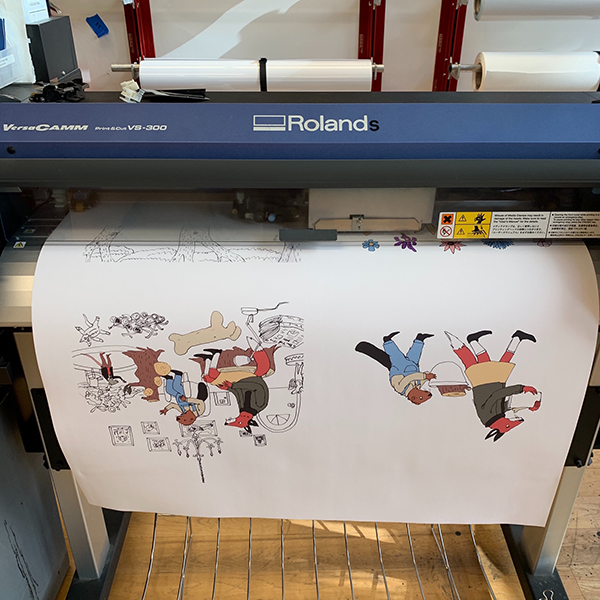 Ellen Dubreuil is a 2nd year  MFA Illustration as Visual Essay  student. She is using the VFL to print out some of her work for the IVE's exhibition at the SVA Gramercy Gallery.