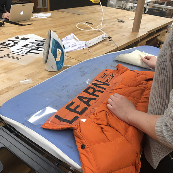 Victoria Holod is an  MFA Design  student that is working on a final for her course on typography. The project draws on a lesson she learned while previously working on a vinyl album cover project.