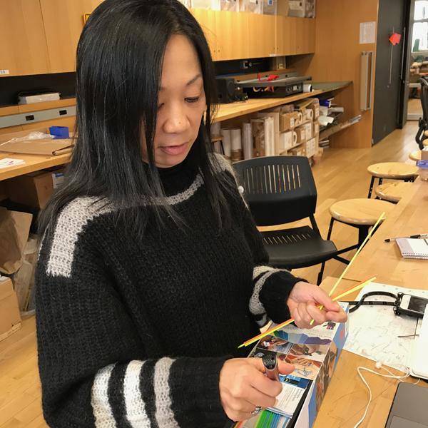 While she's with us CHiKA will be building off a previous project, EN03 (which you can check out on  her website ). She will be experimenting with interactivity and 3D modeling.