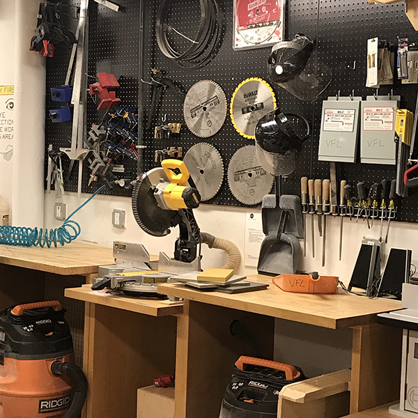 The wood shop is waiting for you!