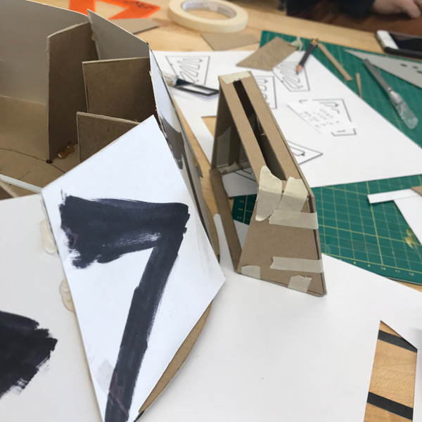 MFA Products of Design  student John Boran Jr. is using the VFL to make an out of this world experience. Starting out with a hot glue gun and cardboard prototype, John is working on a walkway for a Mars gravity simulator.