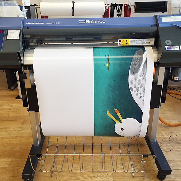 """Juliet Goodman, from MFA Illustration as Visual Essay , makes a vinyl print for her new book, """"The Lonely Tortoise""""."""