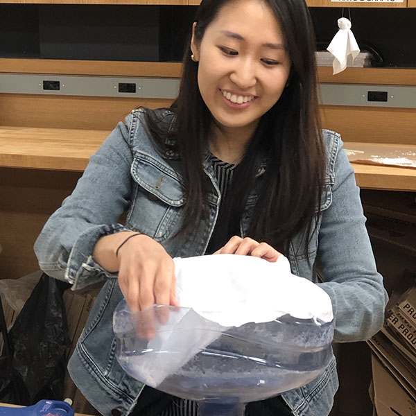 Seona Joung and Wes Rivell are 1st year  Products of Design  students that are in the VFL today to make a prototype for an interaction that demonstrates the process of reverse osmosis.