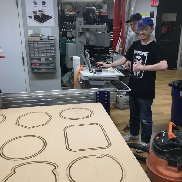 Second year  MFA Fine Arts  student Owen Keogh is back on the Shopbot CNC.