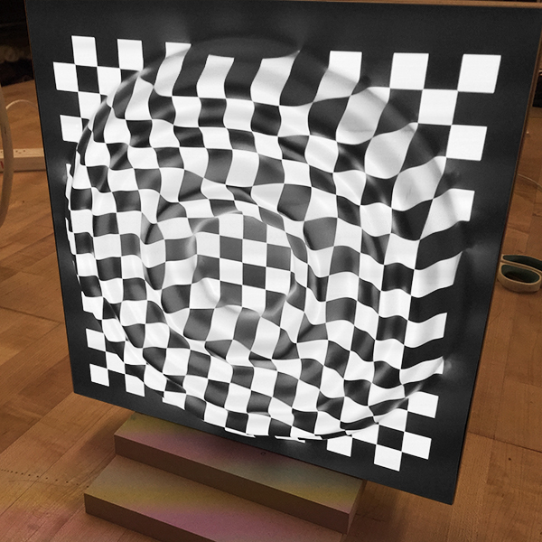 This screen will be used as a 3D screen for video projects.