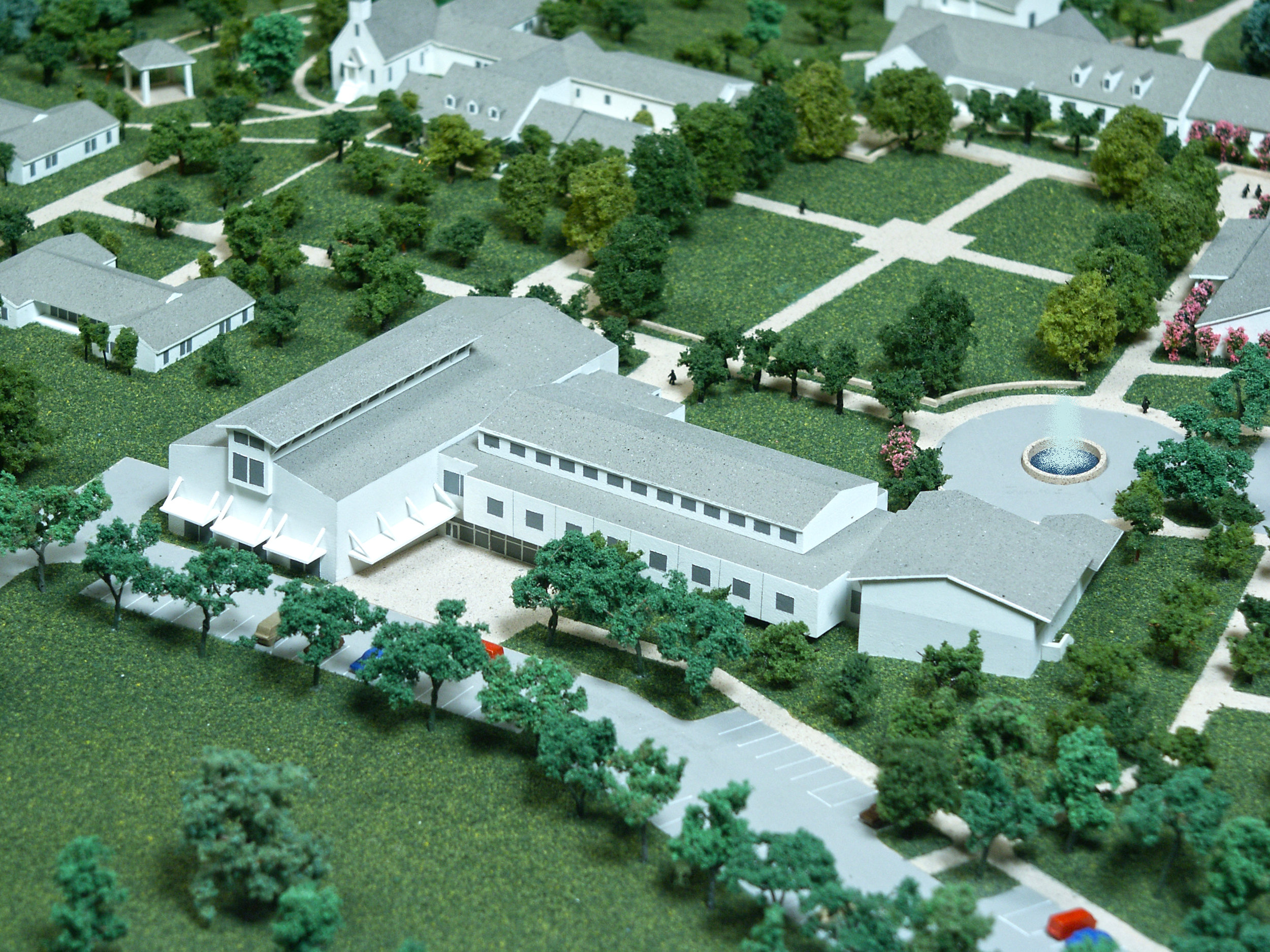 Master Plan Model Showing New Family Life Center