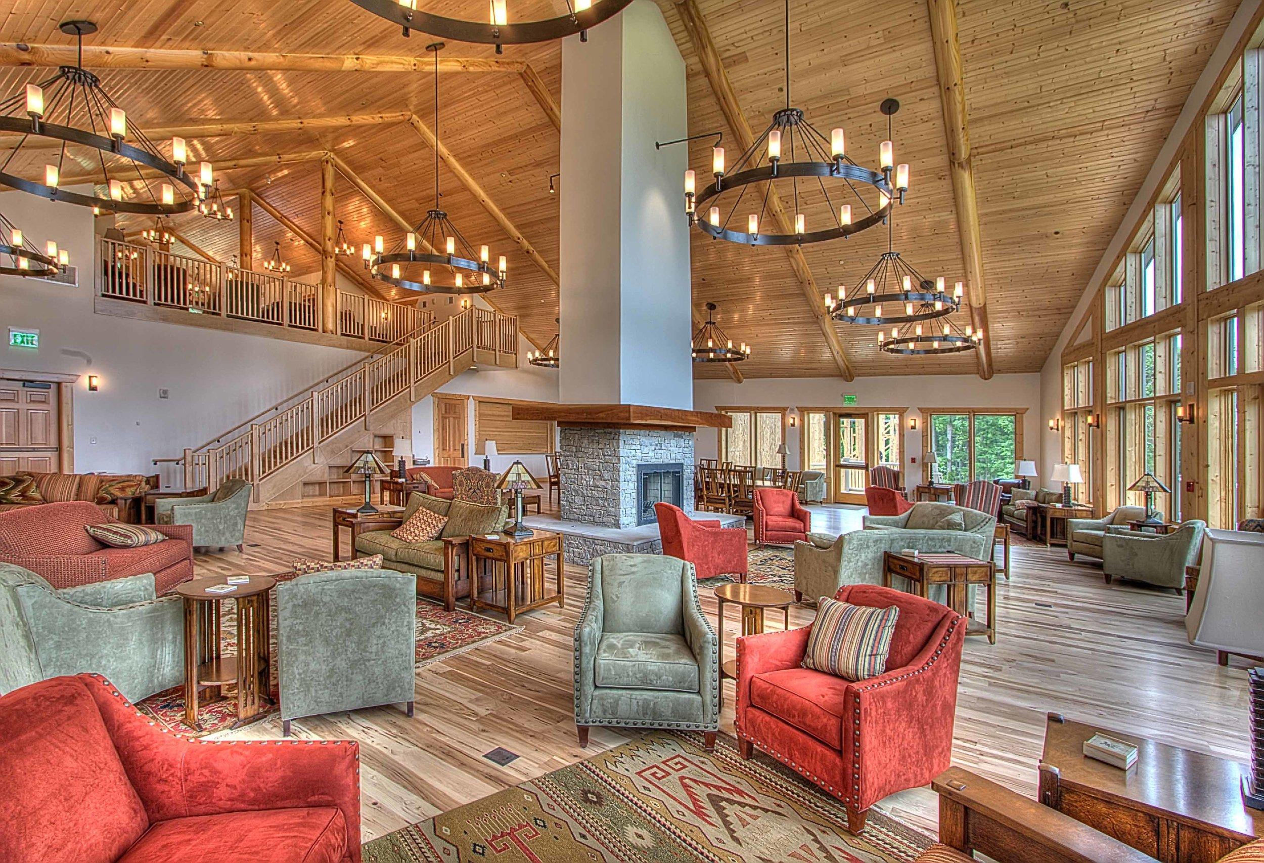 Bethany Retreat Great Room & Library