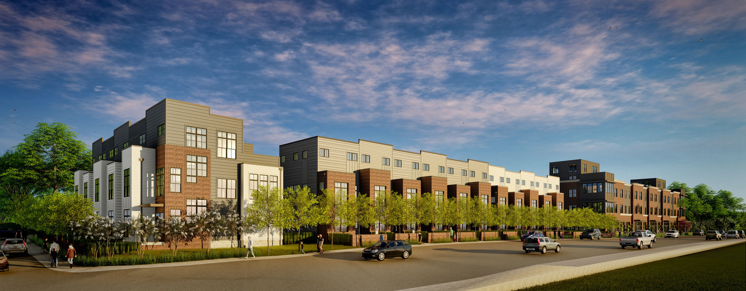 East Trinity Lane 3 Buildings 16 Townhomes