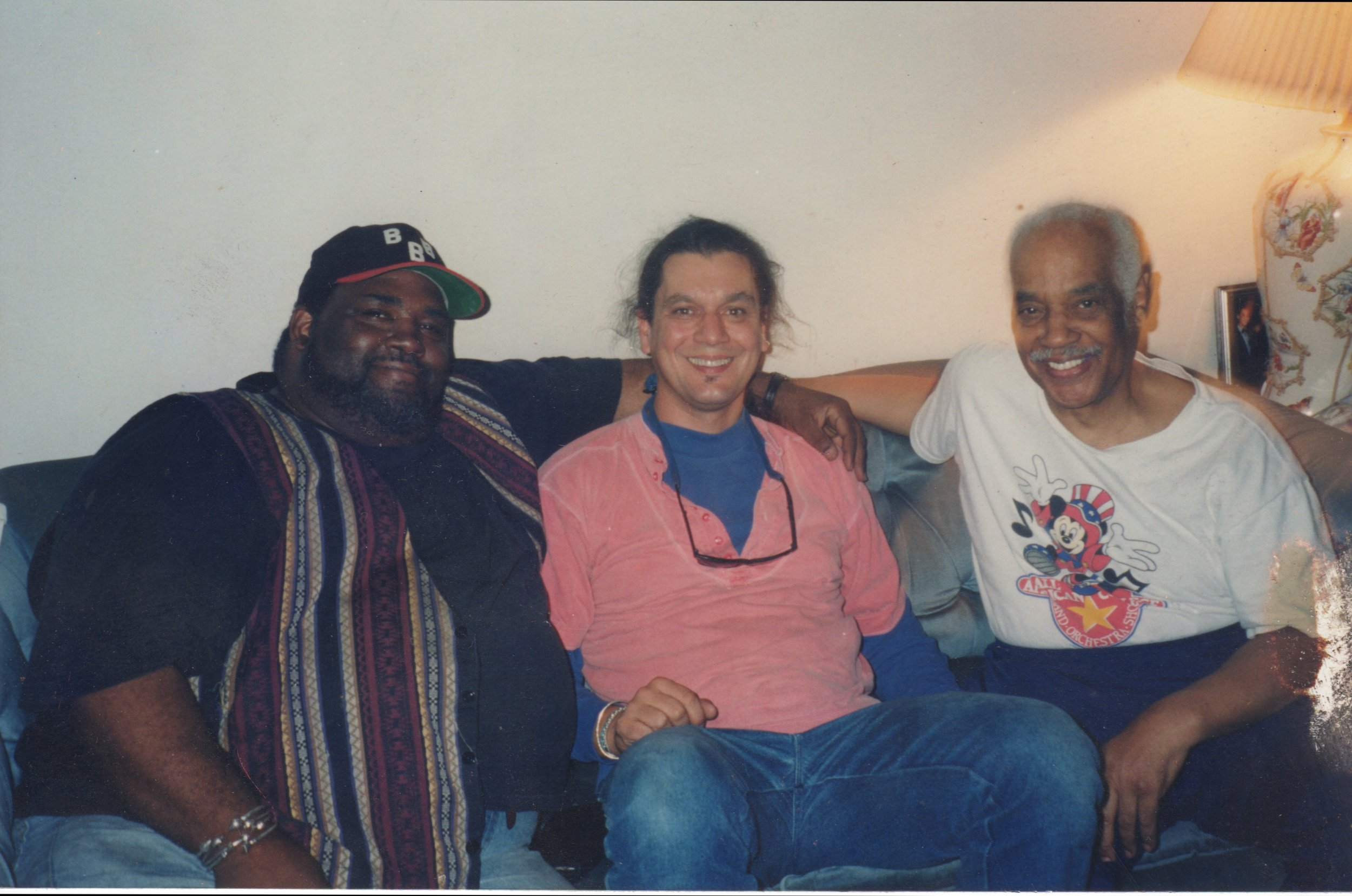 One of the happiest days of my life.  Ron Taylor (Little Shop of Horrors, Trading Places, It Ain't Nothin' but the Blues), Mercer Ellington and me.  We were planning to bring A Drum is a Woman to Broadway.