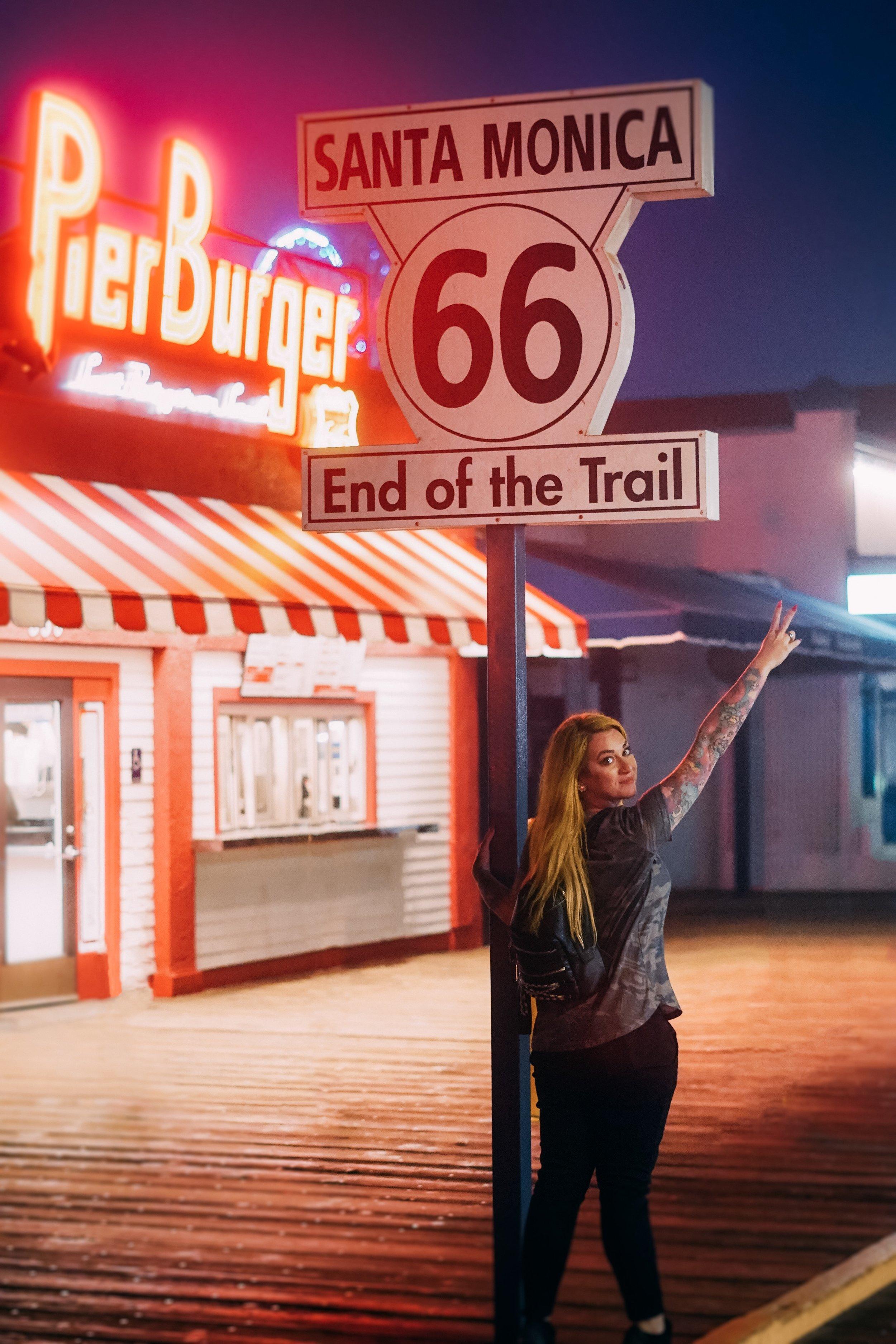 End of Route 66-Santa Monica California-The Chaos Collective