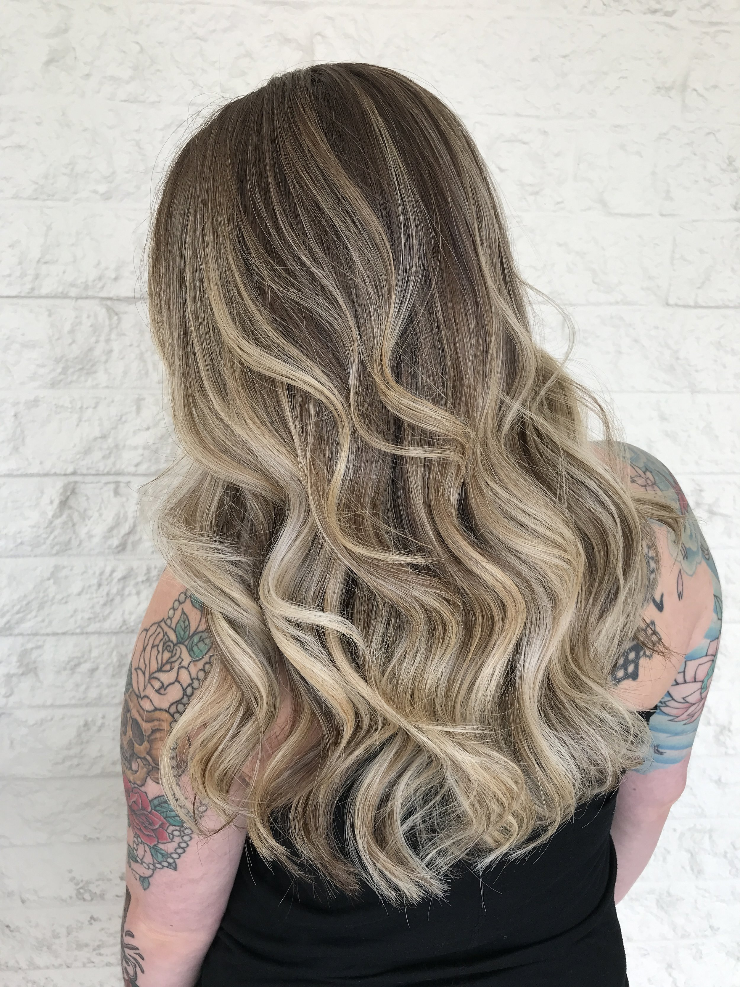 Blonde Balayage- Cryistal Chaos- the salon