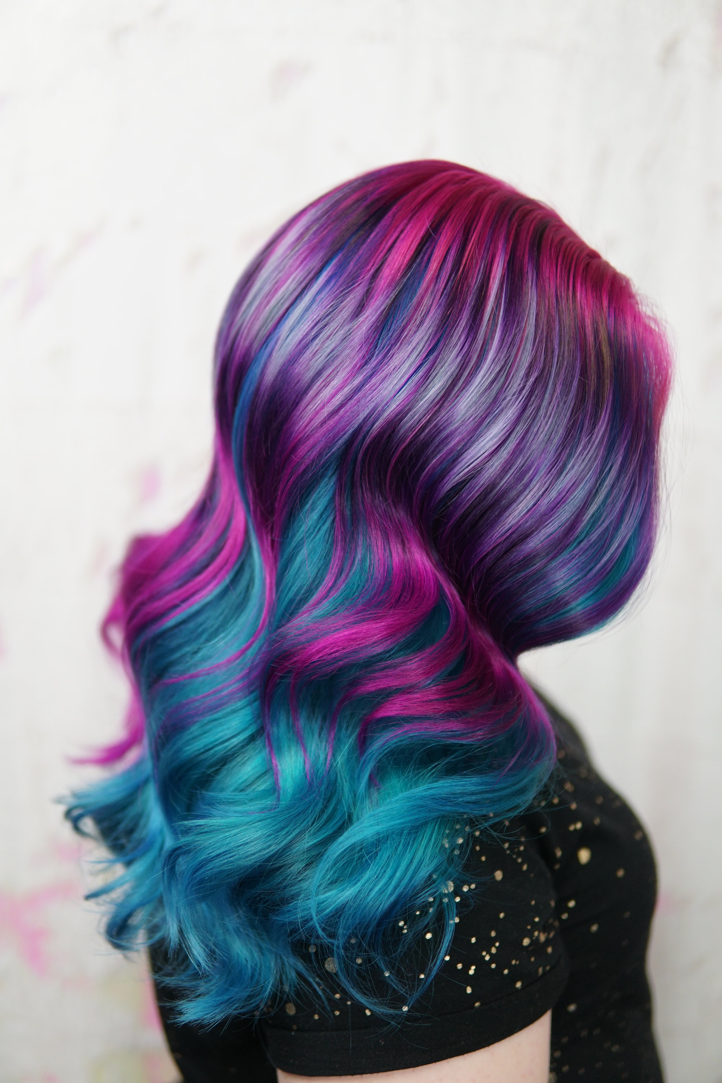 Mutli Colored hair- Cryistal Chaos virginia beach hair