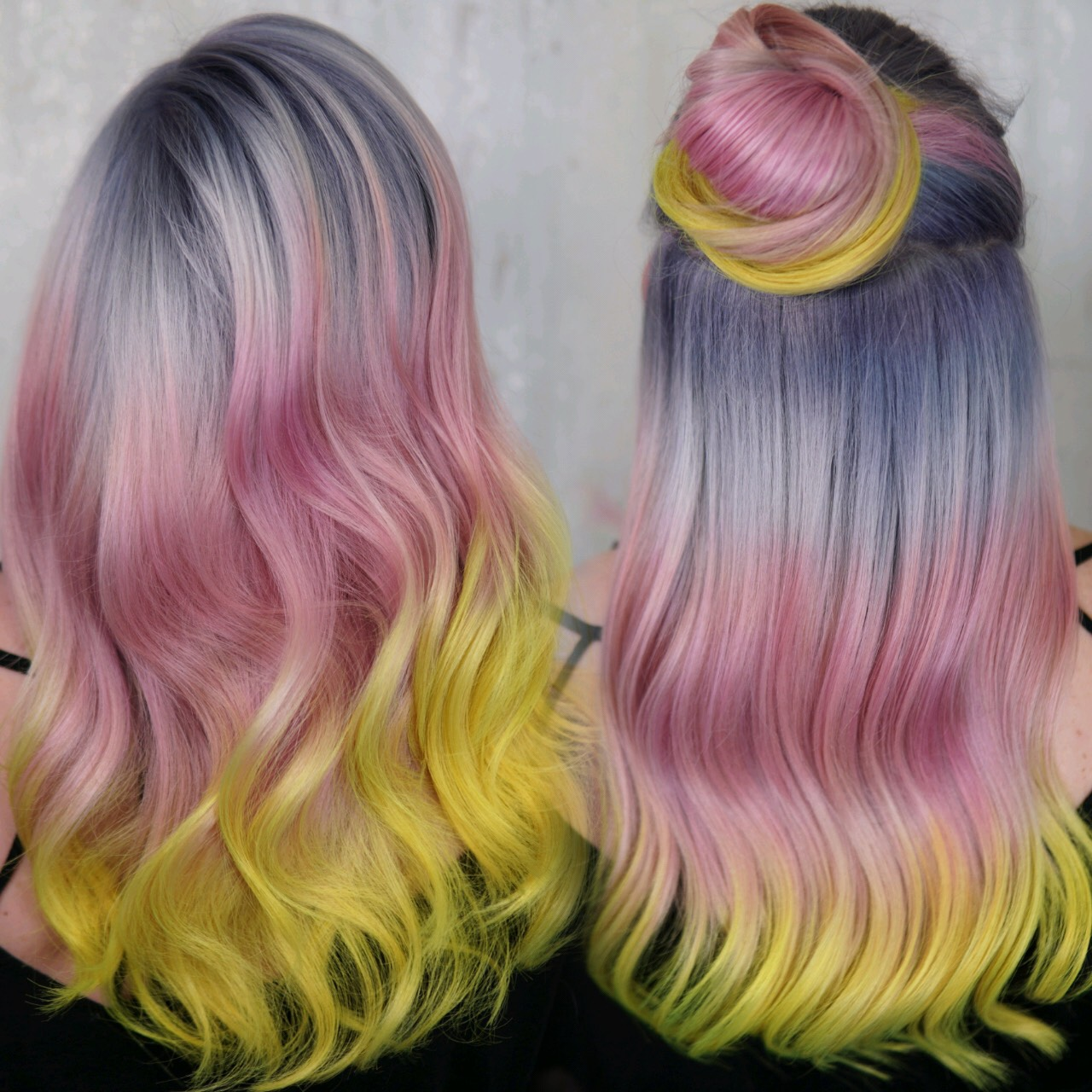 Pastel and Yellow Hair- Cryistal Chaos