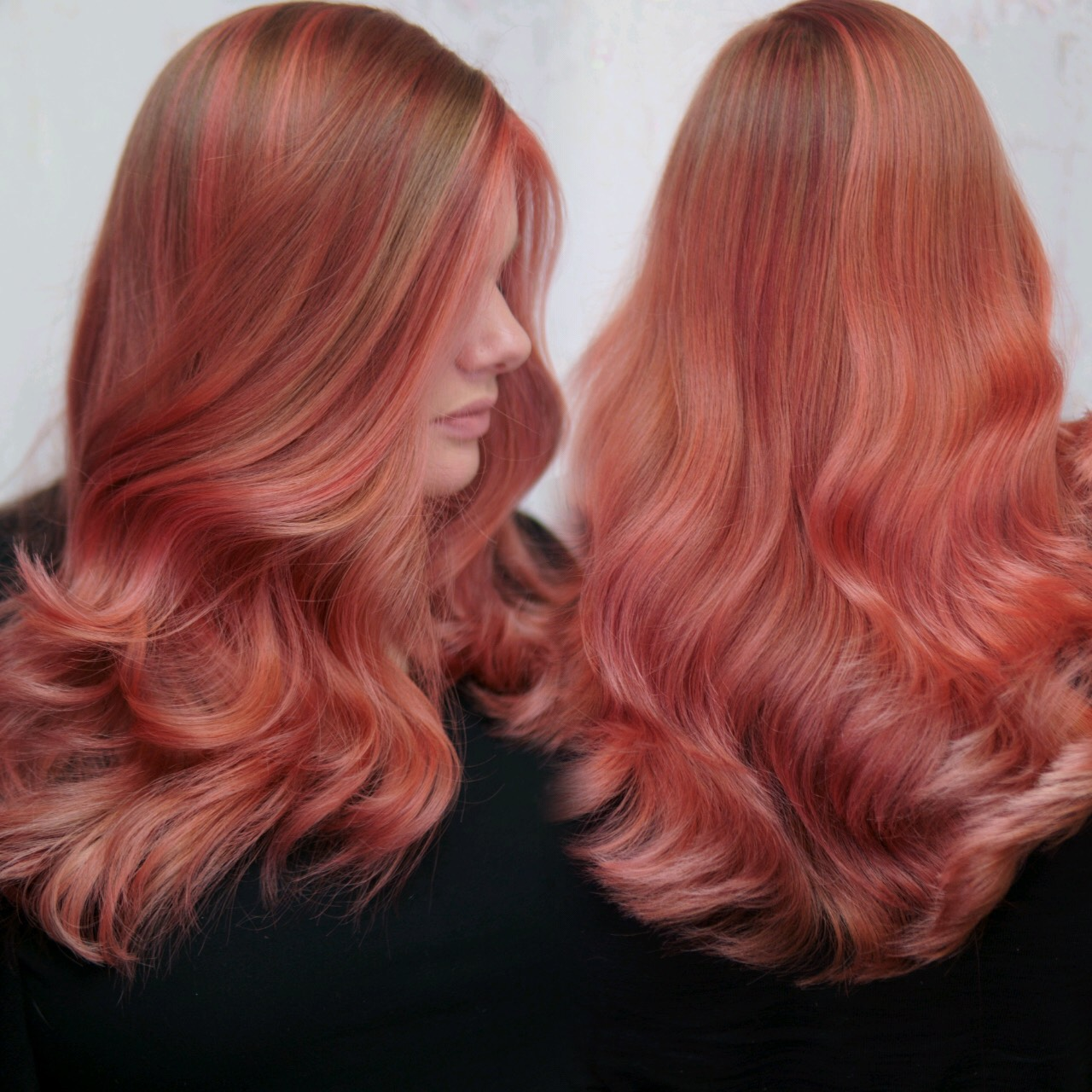 Rose Gold Hair- Cryistal Chaos