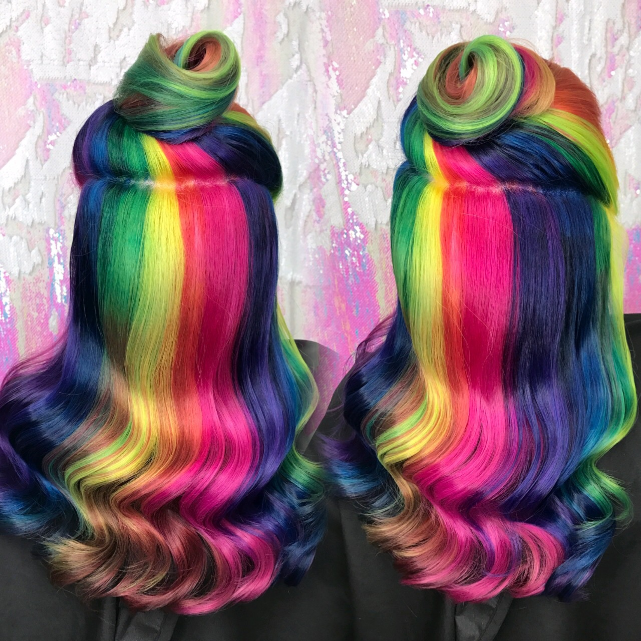 Rainbow hair-Crystal Chaos