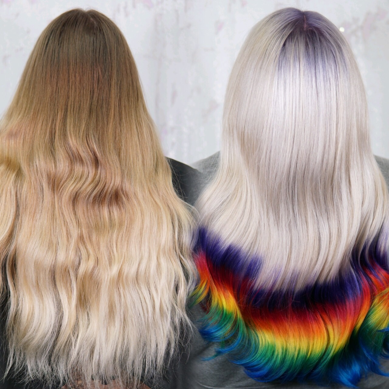 Platinum Blonde Rainbow Hair-Cryistal Chaos