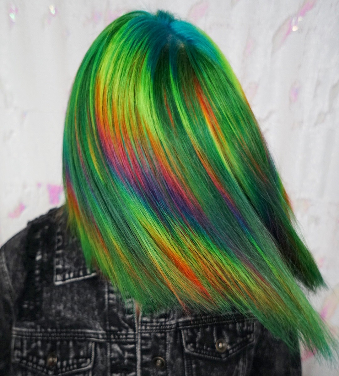 Green Prism hair color