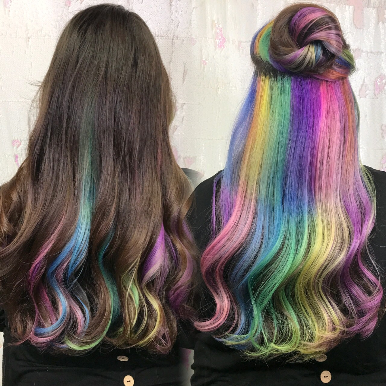 Pastel Hidden Rainbow hair Cryistal Chaos