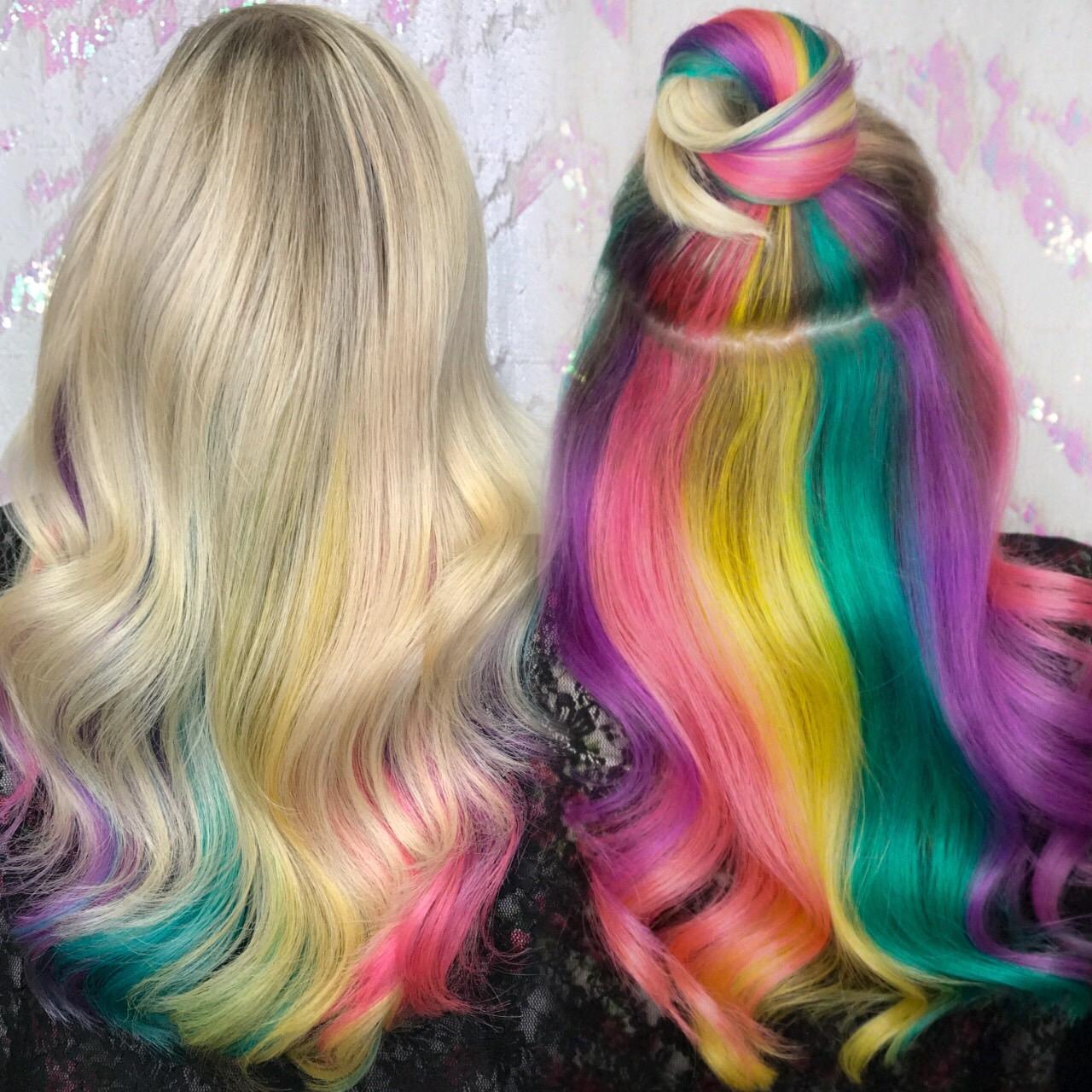 Pastel Hidden Rainbow Haircolor